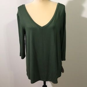 So Rayon Double V Top